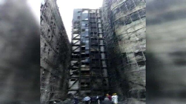 Taksim Eğitim Araştırma Hastanesi'nde yangının çıktığı yer ilk kez görüntülendi