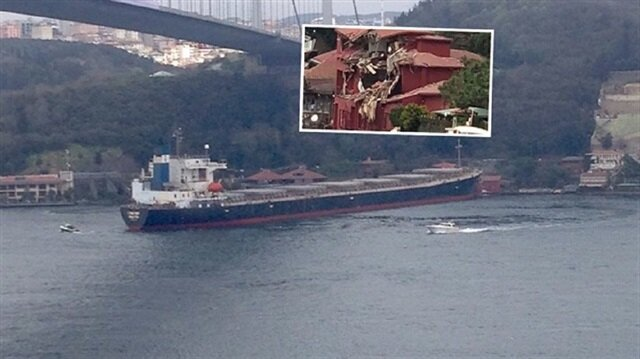 Tanker hits shore under Second Bosphorus Bridge in Istanbul
