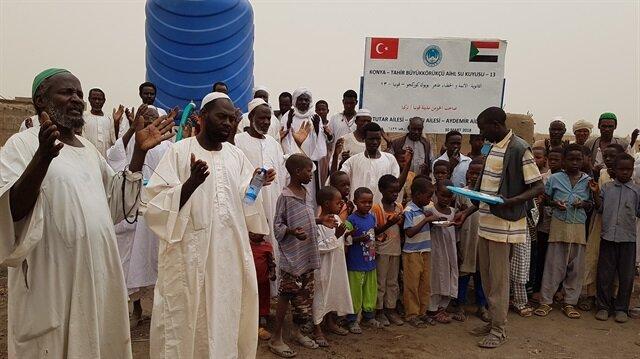 Konyalı imam hatip öğrencileri Sudan'da su kuyusu açtı