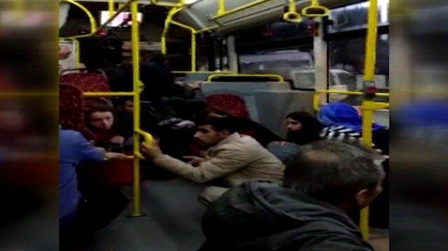 Bağcılardaki silahlı kavga sırasında otobüste yaşanan panik anları