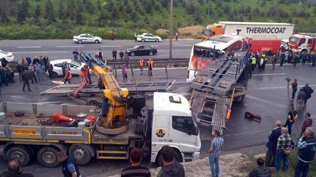 İzmit TEM Otoyolu'nda kaza