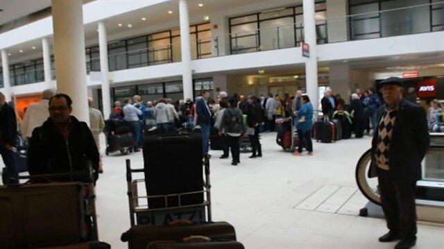 Almanya'da havalimanı grevleri yolcuları perişan etti