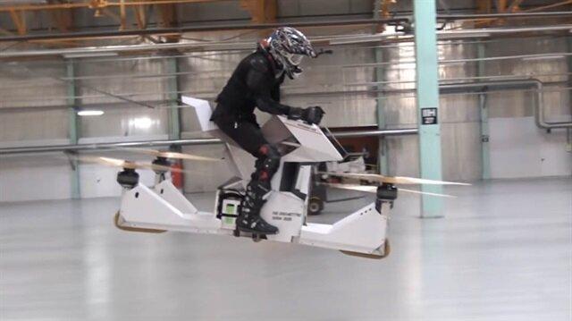 Dünyanın ilk insan kontrollü uçan motosikleti: Scorpion 3