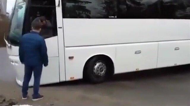Otobüs şoförü vitesleri karıştırınca olanlar oldu