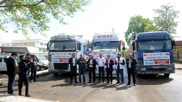 Kahramanmaraş'tan Doğu Guta'ya 125 ton gıda yardımı