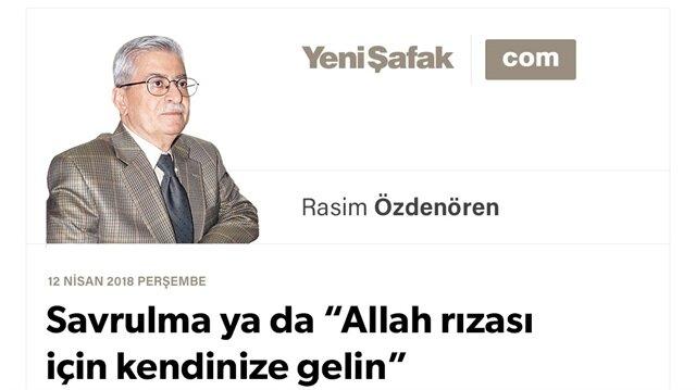 """Savrulma ya da """"Allah rızası için kendinize gelin"""""""