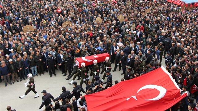 Şehit Piyade Er Muhittin Talha Çalışkan, Burdur'da son yolculuğuna uğurlanmıştı.
