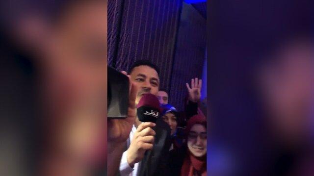 Erdoğan telefonla bağlandı, Katar televizyonu canlı yayına girdi