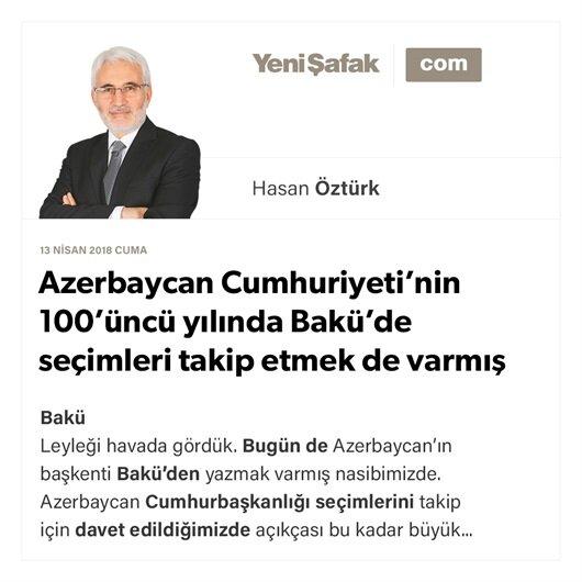 Azerbaycan Cumhuriyeti'nin 100'üncü yılında Bakü'de seçimleri takip etmek de varmış