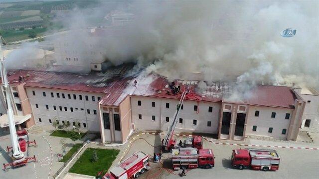 Hastahanede yangın paniği