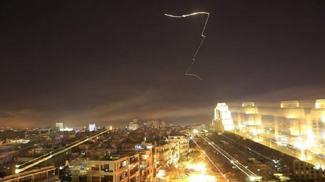 U.S.-led airstrike against regime targets in Damascus