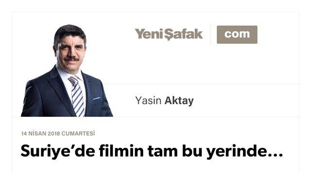 Suriye'de filmin tam bu yerinde…