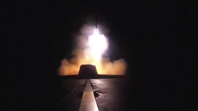 French army releases video showing missiles launched against Syria