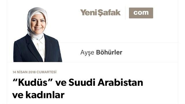"""""""Kudüs"""" ve Suudi Arabistan ve kadınlar"""
