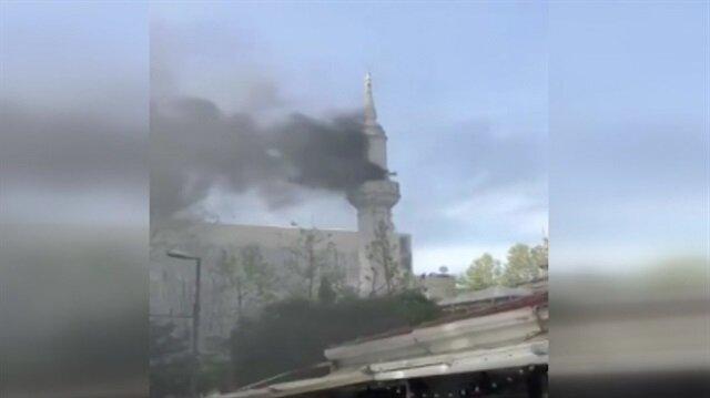 Şişli'de Teşvikiye Camii'nde korkutan yangın