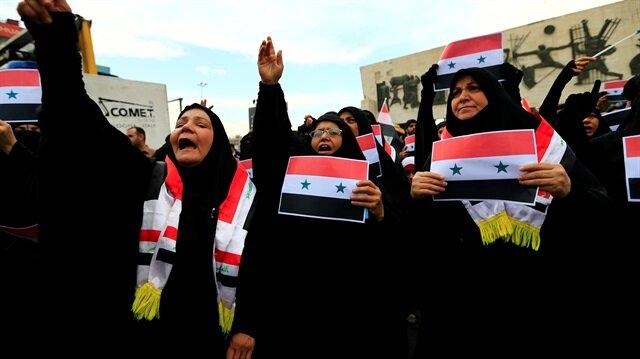 Iraklılar ABD, İngiltere ve Fransa'nın Esed rejimine düzenlediği saldırıyı protesto etti.