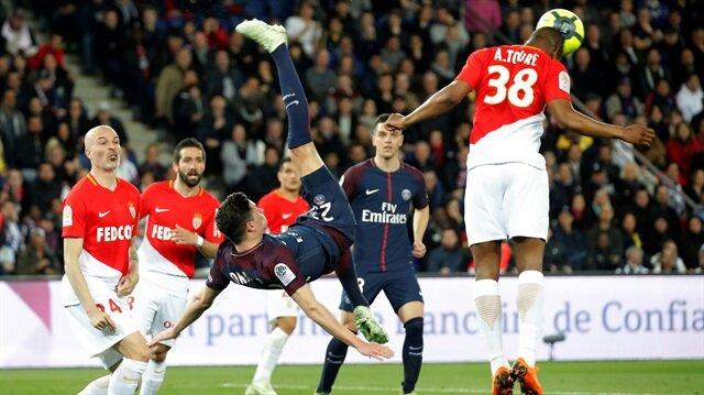 PSG, Monaco'yu farklı yenerek ligin bitime 5 hafta kala şampiyon oldu.