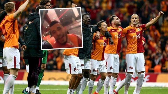 Galatasaray'ın Başakşehir'i yendiği maçtan önce takım otobüsünde çalınan şarkı ve futbolcuların motivasyon şekli dikkati çekti.
