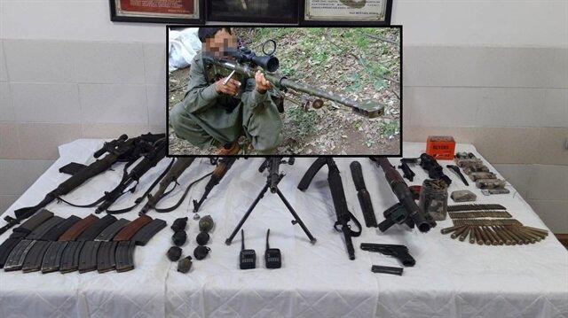 Güvenlik güçlerinin operasyonunda PKK'nın keskin nişancısı da öldürüldü.