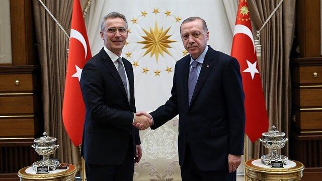 Cumhurbaşkanı Erdoğan, Külliye'de Stoltenberg'i kabul etti