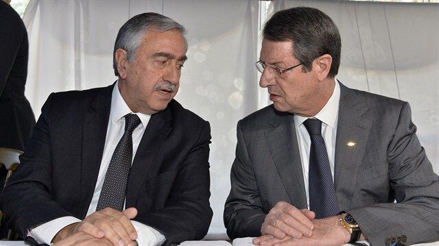 KKTC Cumhurbaşkanı Akıncı ile Güney Kıbrıs Rum Kesimi Cumhurbaşkanı Anastasiadis