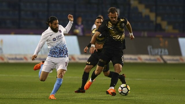 Osmanlıspor-Trabzonspor maçından...