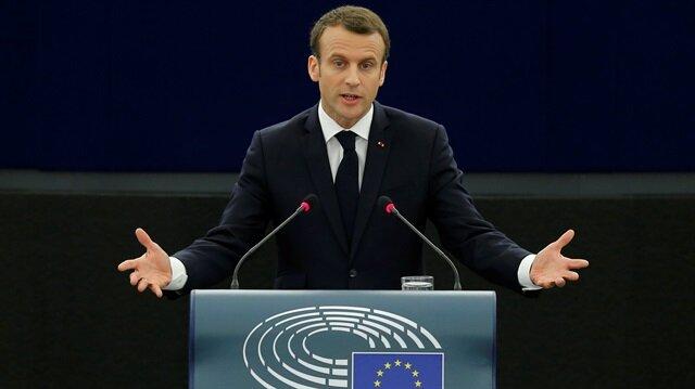 Emmanuel Macron, AP Genel Kuruluna hitap etti.
