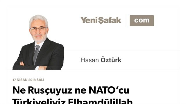 Ne Rusçuyuz ne NATO'cu Türkiyeliyiz Elhamdülillah