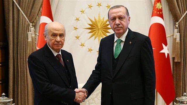 Cumhurbaşkanı Erdoğan - MHP Genel Başkanı Bahçeli