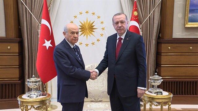 Erdoğan ve Bahçeli Külliye'de bir araya geldi