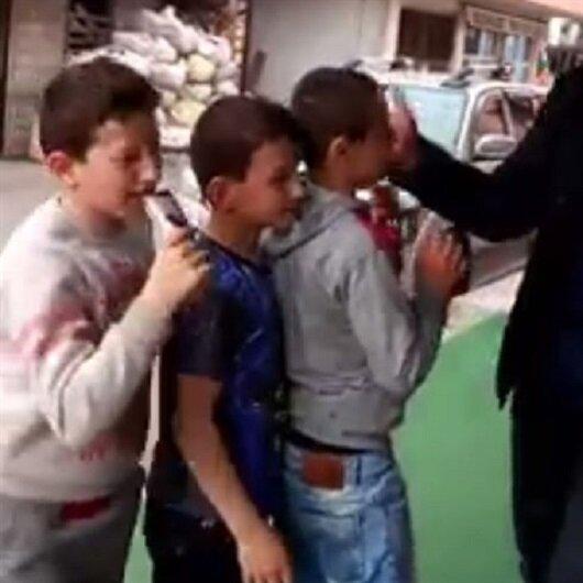 Rize'de skandal görüntü: Önce tokatladı sonra dondurma verdi