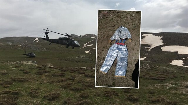 PKK mağarasından özel kıyafet çıktı