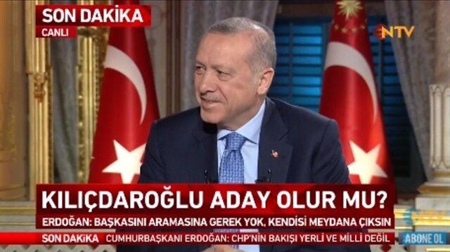 Cumhurbaşkanı Erdoğan'ı güldüren soru