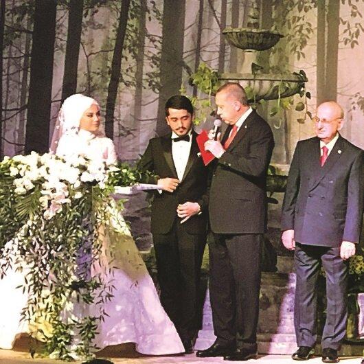 Devlet nikah<br> şahidi oldu