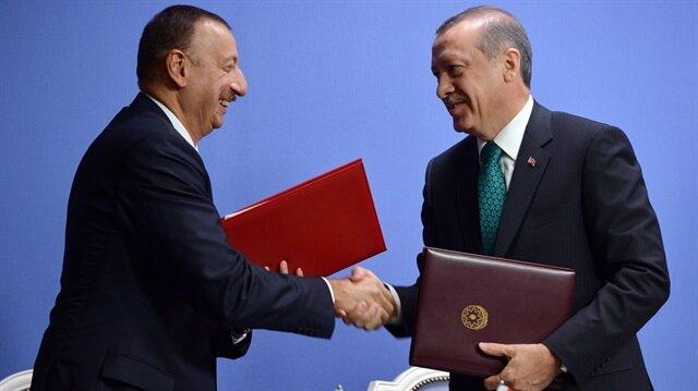 Recep Tayyip Erdoğan ile İlham Aliyev