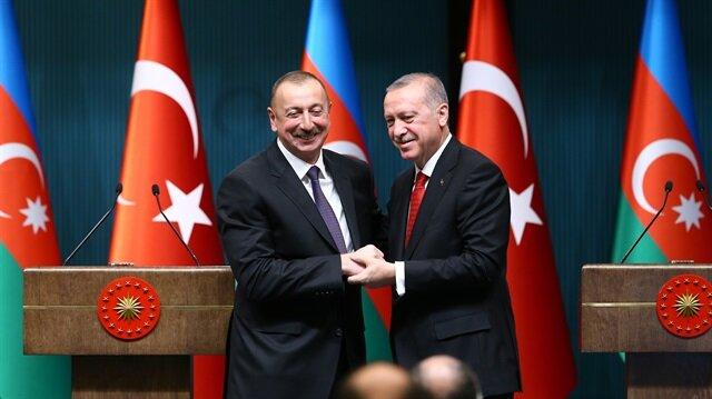 Turkish President Erdoğan and his Azerbaijani counterpart Aliyev.