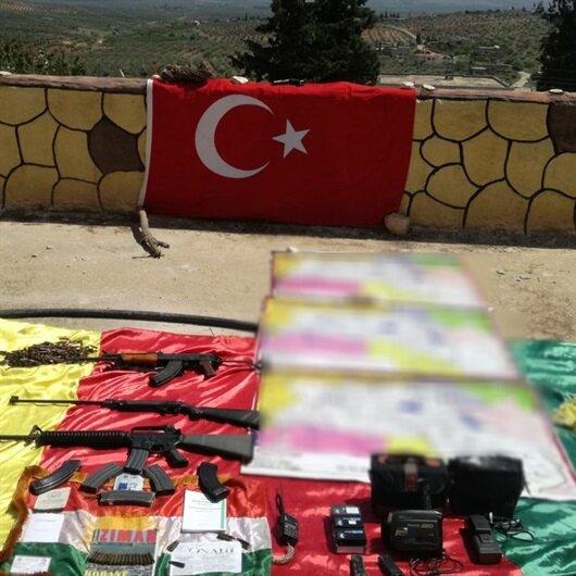 Afrin'de terör örgütüne ait mühimmat ve örgütsel doküman ele geçirildi