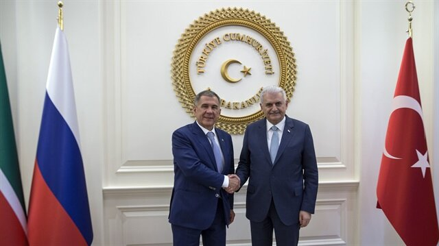 يلدريم يلتقي رئيس تتارستان في أنقرة