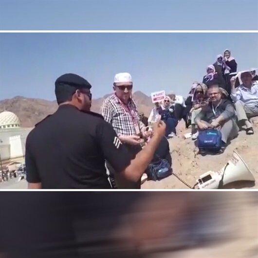 Suud polisinden <br>Türk kafileye engel