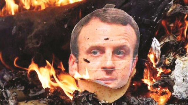 Macron'a karşı grev fırtınası