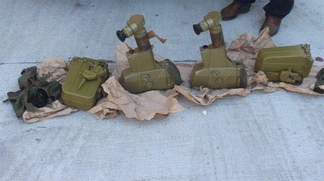 TIR'dan çıkan antitank füze parçaları...