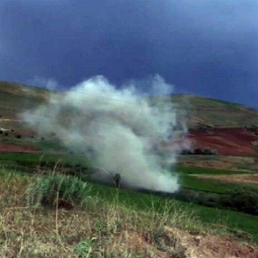 Teröristlerin sakladığı 100 kiloluk patlayıcı imha edildi