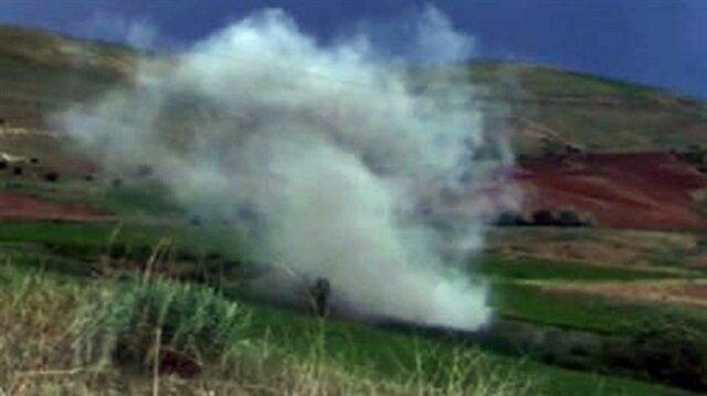 2 tüp içerisine hazırlanarak ağaçlık alana saklanan 100 kilogramlık el yapımı patlayıcı imha edildi