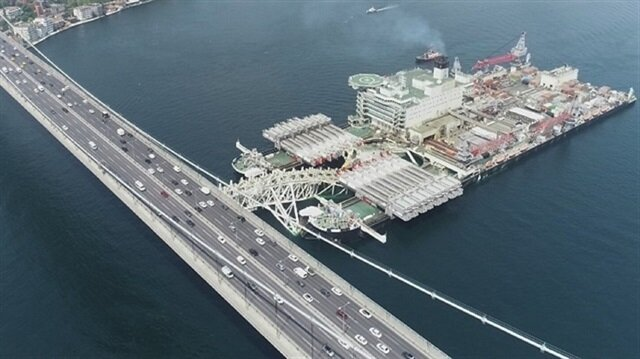 World's largest construction vessel crosses Istanbul's