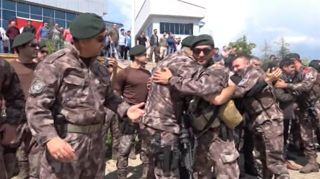 Afrin'e giden 22 kişilik PÖH timi görev yerlerine döndü