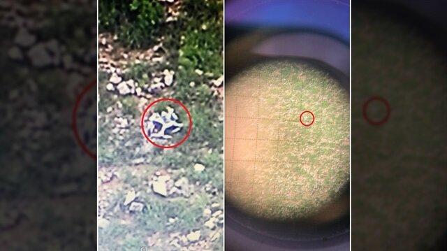 Teröristlere ait drone düşürüldü