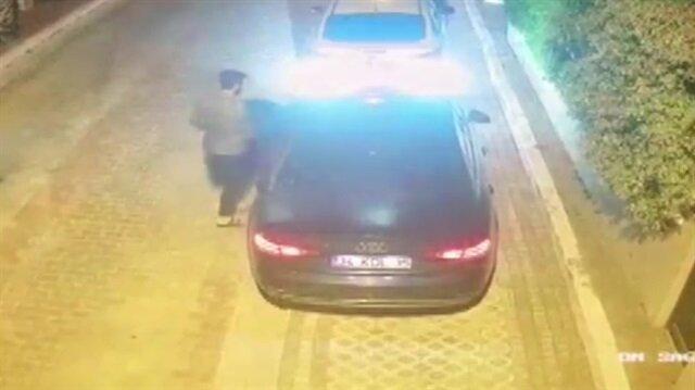 Katil zanlısı holding patronunun kaçma anı kamerada