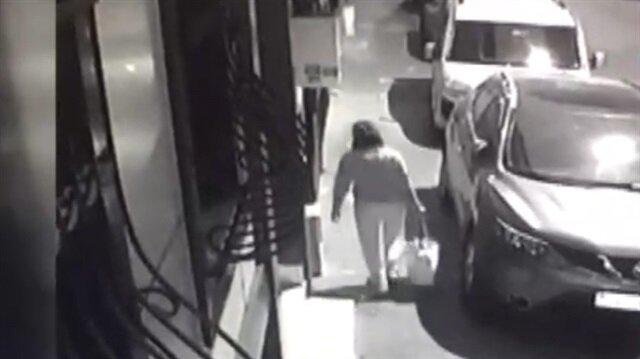 Çocuğunu çöpe bırakan vicdansız anne böyle görüntülendi