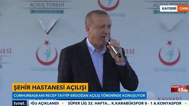 Cumhurbaşkanı Erdoğan: Biz bu hastaneleri Kılıçdaroğlu için de yaptık