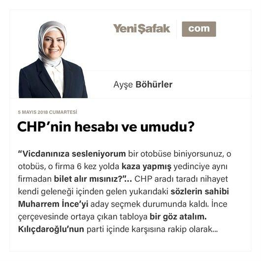 CHP'nin hesabı ve umudu?